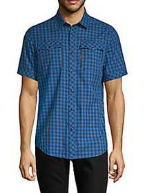 G-Star RAW Landoh Checked Button-Down Shirt DEEP I