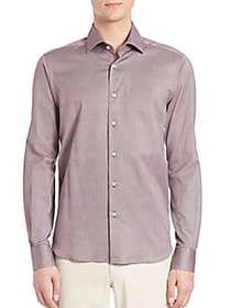 Saks Fifth Avenue COLLECTION Buttoned Cotton Shirt