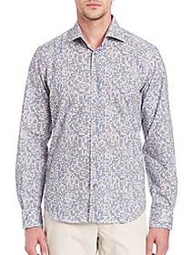 Saks Fifth Avenue Regular-Fit Abstract Printed Shi