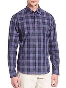 Saks Fifth Avenue Long Sleeve Cotton Shirt BLUE
