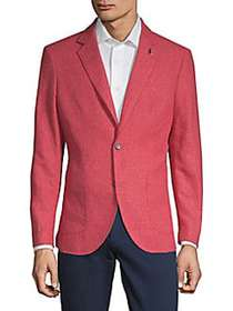TailorByrd Classic Notch Lapel Jacket RED