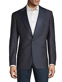 Giorgio Armani Wool-Blend Suit Jacket NAVY