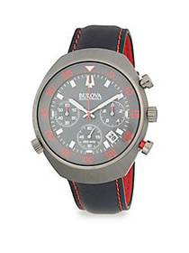 Bulova Accutron II Stainless Steel and Leather-Str