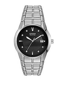 Citizen Mens Eco-Drive Stainless Steel Watch SILVE
