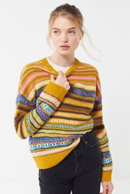UO Taxi Driver Patterned Pullover Sweater