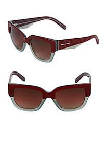 Burberry 53MM Square Sunglasses RED