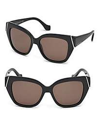 Balenciaga Marcolin 57MM Oversized Square Sunglass