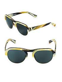 Hadid Nomad 52MM Clubmaster Sunglasses HORN