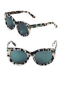 Hadid Runway 54MM Butterfly Sunglasses WHITE