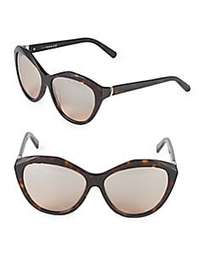Swarovski 54MM Crystal Cat-Eye Sunglasses BROWN