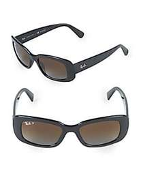 Ray-Ban 50MM Polarized Rectangle Sunglasses BLACK
