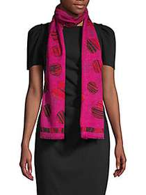 Boutique Moschino All of Heart Print Wool Scarf PI
