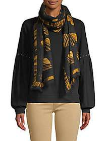Boutique Moschino All Of Heart Wool Scarf BLACK