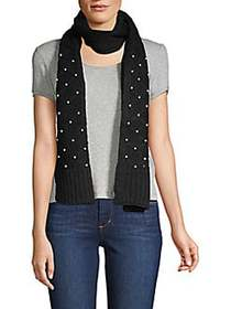 Karl Lagerfeld Paris Faux Pearl Studded Quilted Sc