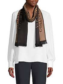 Versace Collection Two-Tone Logo Scarf BLACK BEIGE
