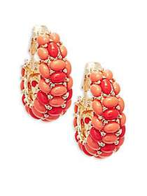 Kenneth Jay Lane Clustered Clip-On Earrings GOLD