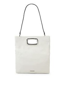 Vince Camuto Marti Large Leather Clutch WHITE
