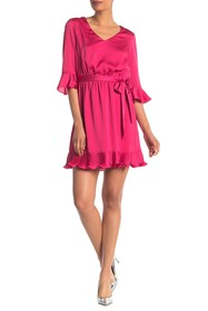 bebe Pleat Blouson Dress