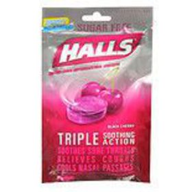 Halls Sugar Free Cough Suppressant Drops Black Che