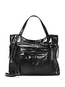 Vince Camuto Narra Leather Tote BLACK