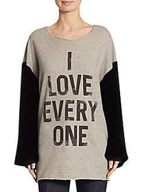 Elizabeth and James I Love Everyone Sweater GREY