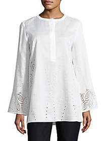 Lafayette 148 New York Hasley Embroidered Linen Bl