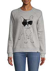 Marc New York Performance Bulldog Sequin Graphic S