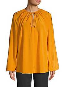 Elizabeth and James Chance Rope Tie Blouse SAFFRON