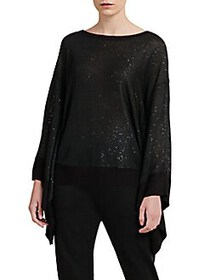 Donna Karan Cape Sleeve Top BLACK