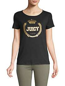 Juicy Couture Graphic Roundneck Tee PITCH BLACK