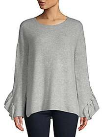 French Connection Emilde Ruffled Knit Pullover LIG