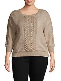 Max Mara Cable-Knit Linen Top SAND