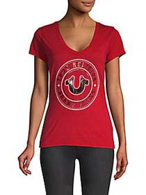 True Religion Logo Graphic T-Shirt RUBY RED