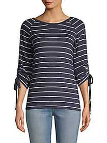 C&C California Hacci Striped Top NAVY MULTI