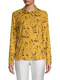 Philosophy Floral Blouse MUSTARD