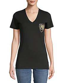 Pierre Balmain Chest Patch Cotton Tee BLACK