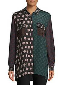 Lanvin Haut Printed Button-Down Shirt MULTI