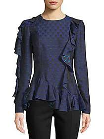 Lanvin Jupe Ruffled Top BLUE