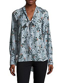 French Connection Floral Self-Tie Top BLAZER RED