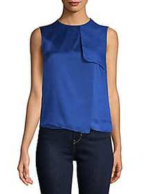 Max Mara Vezzano Silk Top CORNFLOWER
