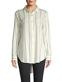 Philosophy Striped Hi-Lo Button-Down Shirt LODEN C