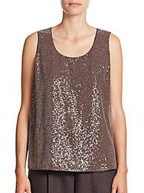 Lafayette 148 New York Cleo Sequined-Front Silk Ge