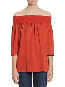 Theory Elistaire Off-the-Shoulder Top PAPRIKA