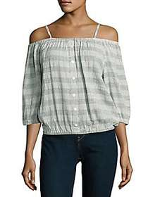 Romeo & Juliet Couture Striped Off-The-Shoulder To