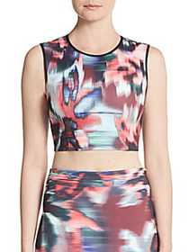 Clover Canyon Floral Ikat Cropped Top MULTI
