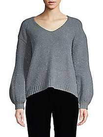 Zero Degrees Celsius High-Low Sparkle Sweater GREY