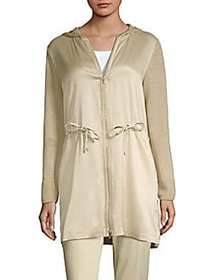 Lafayette 148 New York Hooded Contrast Cardigan NA