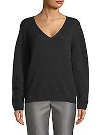 Max Mara Textured V-Neck Sweater DARK GREY