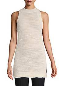 Lafayette 148 New York Sleeveless Mockneck Top CLO