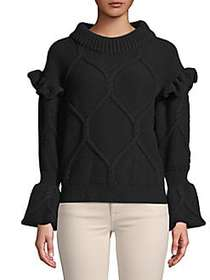 Burberry Ruffle-Trimmed Top BLACK